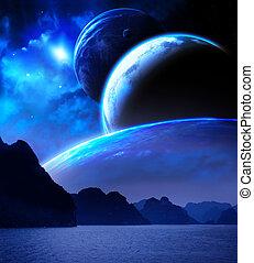 planeta, kaprys, krajobraz