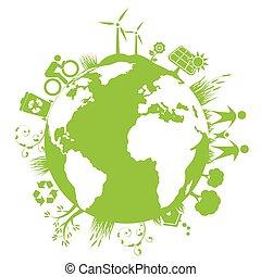 planeta, zielony