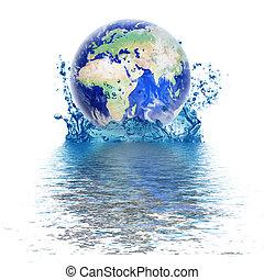 planetować ziemię, kropla, woda, podobny