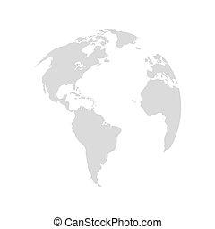 planetować ziemię, projektować, mapa