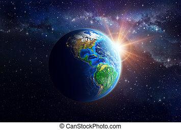 planetować ziemię, zewnętrzna przestrzeń