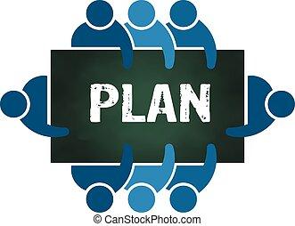 planowanie, grupa, ludzie