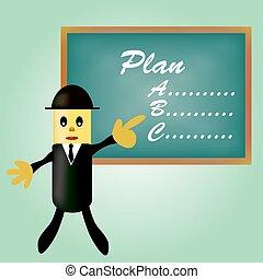 planowanie, handlowy, spoinowanie, człowiek