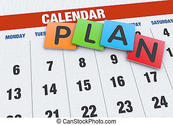 planowanie, pojęcie, kalendarz