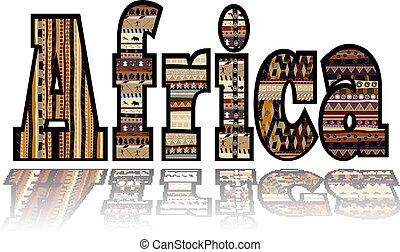 plemienny, elementy, afryka
