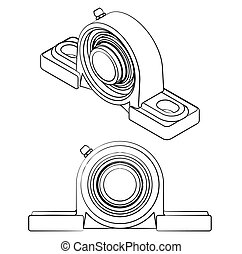 plummer, różny, podobny, brushstrokes, bearing., kloc, szkic