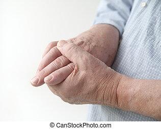połączenia, ból, palec