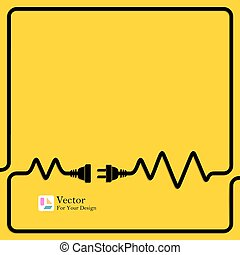 połączenie, pojęcie, electricity., odłączenie