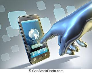 połączenie, smartphone