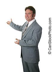 pośrednik w sprzedaży nieruchomości, gesturing