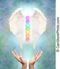 poświęcony, anioł, chakra, gojenie