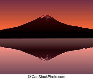 poświęcony, góra, fuji