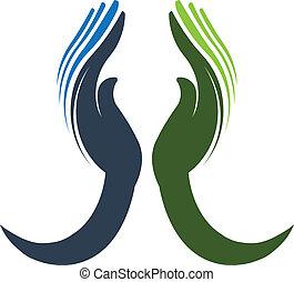 poświęcony, logo, wektor, siła robocza