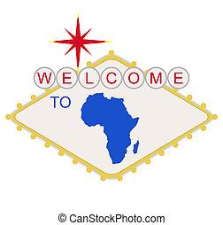 pożądany, afryka, znak