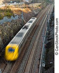 pociąg, mocny