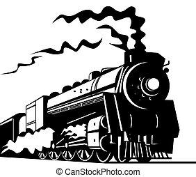 pociąg, para