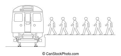 pociąg, praca