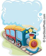 pociąg, zabawka, lokomotywa