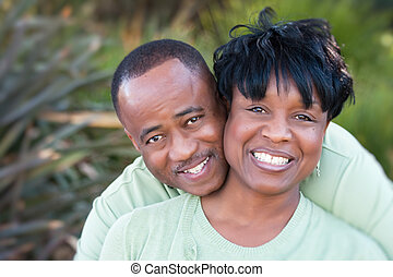 pociągający, amerykanka, szczęśliwa para, afrykanin