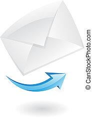poczta, 3d, ikona