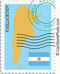 poczta, argentyna, to/from