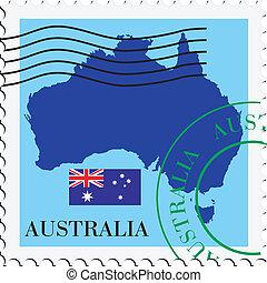 poczta, australia, to/from