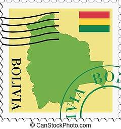 poczta, boliwia, to/from