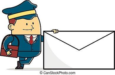 poczta, człowiek