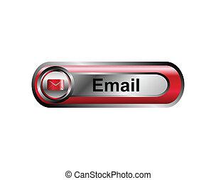 poczta, guzik, internet, email, ikona