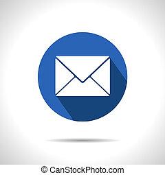 poczta, icon., wektor, eps10