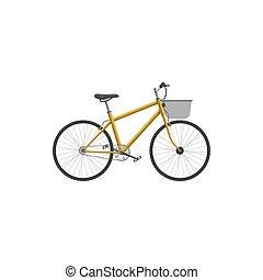 poczta, ikona, przewóz, dostarczając, rower