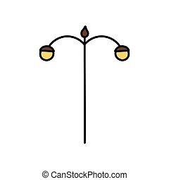 poczta, lampa ikona, uliczne światło