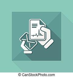 poczta, medyczny dokument