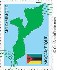 poczta, mozambik, to/from