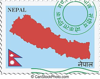 poczta, nepal, to/from