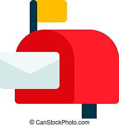 poczta, otwarty, skrzynka pocztowa