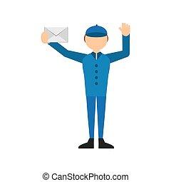 poczta, poczta, koperta, litera, człowiek