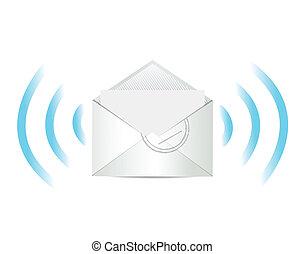 poczta, projektować, e, ilustracja, komunikacja
