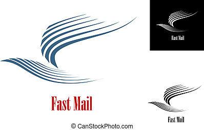 poczta, symbol, mocny