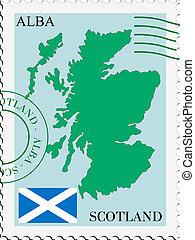 poczta, szkocja, to/from