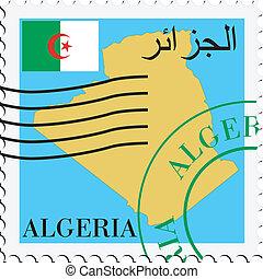 poczta, to/from, algieria
