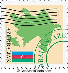 poczta, to/from, azerbejdżan