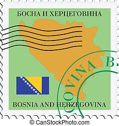 poczta, to/from, bośnia