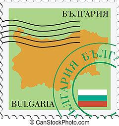 poczta, to/from, bułgaria