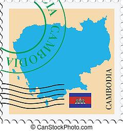 poczta, to/from, kambodża