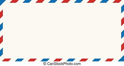 poczta, wektor, koperta, ilustracja, powietrze