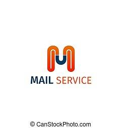 poczta, wektor, służba, ikona