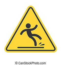 podłoga, mokry, znak