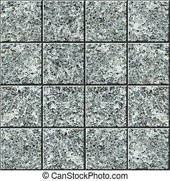 podłoga, -, seamless, struktura, wektor, dachówka, granit