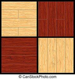 podłoga, twarde drewno, pattern., seamless, wektor, parkiet